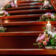 Stock Photo: Bouquet on stairs
