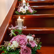 Bouquet on the stairs — 图库照片