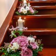 Bouquet on the stairs — Stock Photo