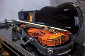 Violin in a case — Stock Photo