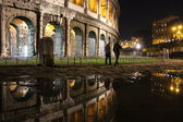 Colosseum Rome by night — Stok fotoğraf