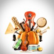 Musical instruments, orchestra — Stock Photo
