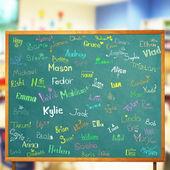 Nazwy i zdjęcia dzieci — Zdjęcie stockowe