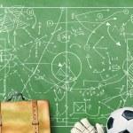 ������, ������: Football field with markings