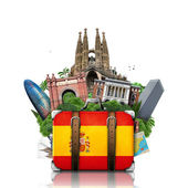 Spain, landmarks Madrid and Barcelona, travel — 图库照片