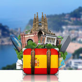 Spain, landmarks Madrid and Barcelona, travel — Stock fotografie