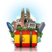 Spain, landmarks Madrid and Barcelona, travel — Zdjęcie stockowe