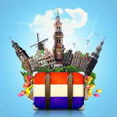 Holland, Amsterdam landmarks, travel — Stock fotografie