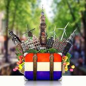 Holland, Amsterdam landmarks, travel — Stock Photo