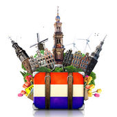 Holland, Amsterdam landmarks, travel — Stock Photo