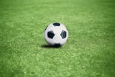 Football pitch with the ball — Stockfoto