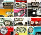 Classic cars, retro automobile collage — Stock Photo