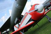 Retro flygplan — Stockfoto