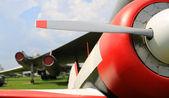 Retro letadlo — Stock fotografie