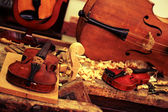 Workshop for the manufacture of violin — Stock Photo