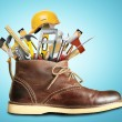 Tools and Shoe — Stock Photo #48842151