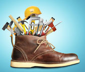 Tools and Shoe — Stock Photo