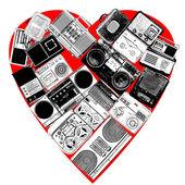 Colagem de música — Foto Stock