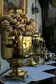 Old copper teapot, a samovar — Stock Photo