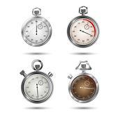 Set van vector stopwatches — Stockvector