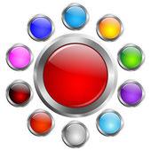 Vector buttons set — Stock Vector