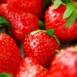 Bright red fresh juicy strawberries — Zdjęcie stockowe