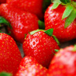 Bright red fresh juicy strawberries — Stock fotografie