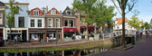 Typical street in Delft — Stock Photo