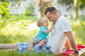 Father and san in park — Stock Photo