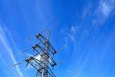 Power pole line — Stock Photo