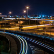 Car light streaks at night — Foto Stock