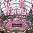 Stock Photo: Union Jack flags in Covent garden in London UK
