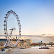 Stock Photo: London Eye on Thames River