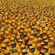 Many yellow rubber ducks - Stock Photo