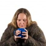 Woman drinking tea — Stock Photo #24813541