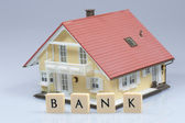 Bank - model house — Stock Photo
