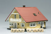 House With Word euro crisis — Stock Photo