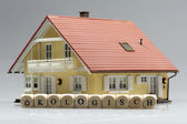 Model house with word Ecologically — Stock Photo