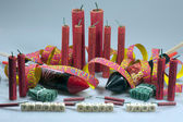 New year's stunner, firecrackers and bangers — Stok fotoğraf