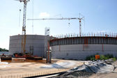Construction of a biogas plant — Stock Photo