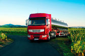 Tank truck for transport of dangerous goods — Stock Photo