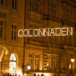 Illuminated City of Hamburg, Colonnaden — Stock Photo