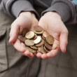 Boy and his pocket money — Stock Photo