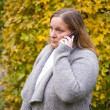Woman phoning — Stock Photo