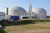 New biogas plant — Stock Photo