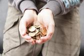 Boy and his pocket money — Stock Photo