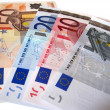 5 Euro 10 Euro 20 Euro 50 Euro bills — Stock Photo