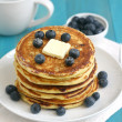 Stock Photo: Pancakes with blueberries