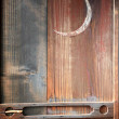 Wooden door Sickle — Stock Photo