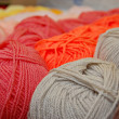 Stock Photo: Fabric accessories for retail haberdashery,balls of wool